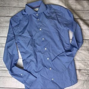 ETON Men's Dress Shirt Super Slim Blue Size 15.5